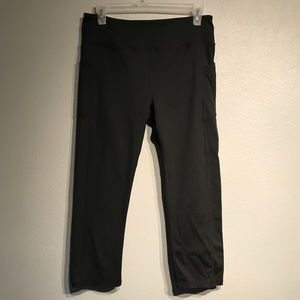 Kyodan Pants - KYODAN Black side pocket Capri yoga leggings